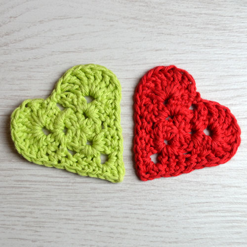 Granny Heart Crochet Pattern by April Towriess
