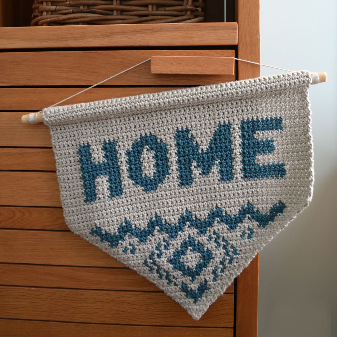 Crochet Home Wall Hanging Pattern by April Towriess