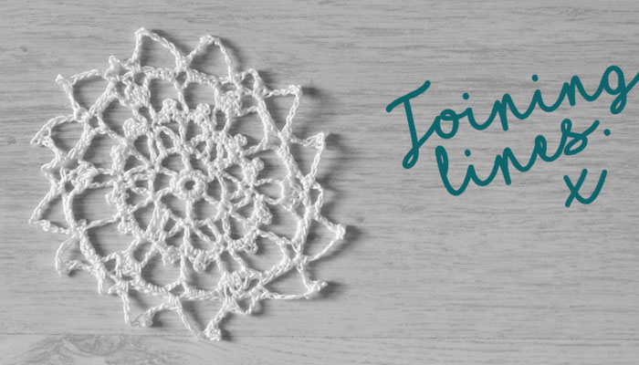 Joining Lines Project Crochet Doily by April Towriess