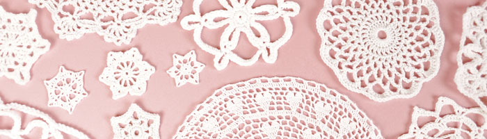 Joining Lines crochet doilies