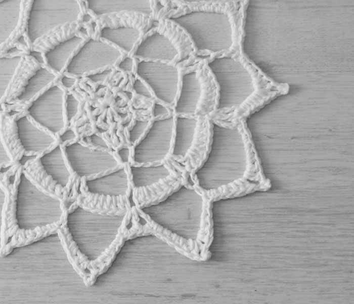 Joining Lines Project Crochet Unity Doily by April Towriess