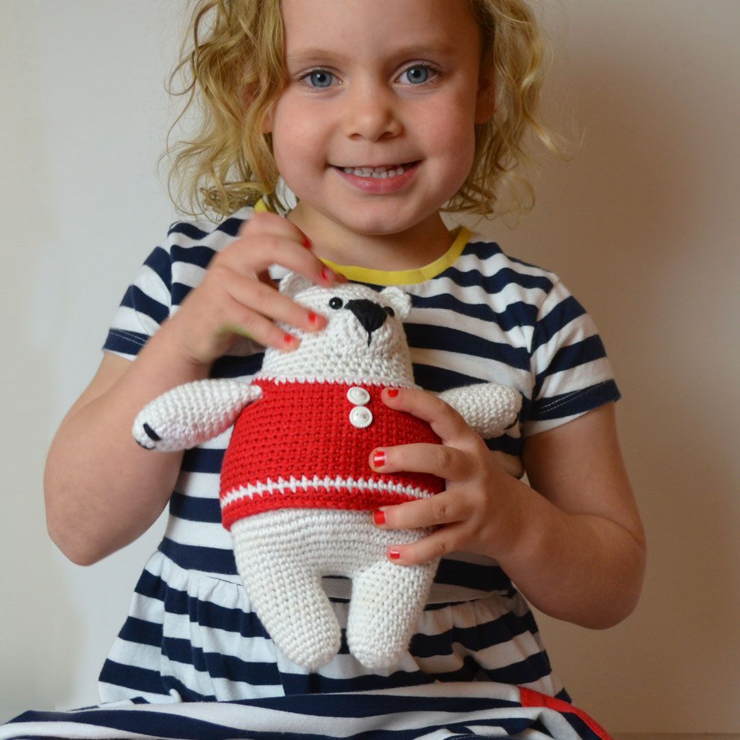 Percy Polar Bear Crochet Pattern by April Towriess