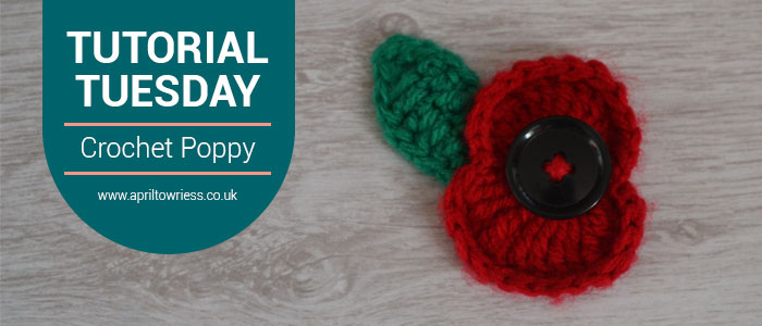 Tutorial Tuesday Crochet Poppy Pattern by April Towriess