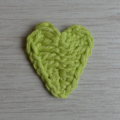 Lime crochet heart